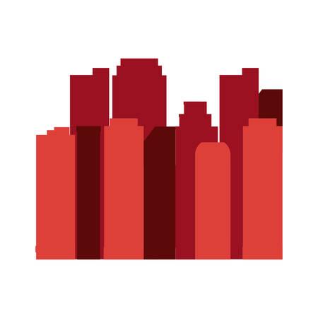 green cityspace buildings urban sky vector illustration