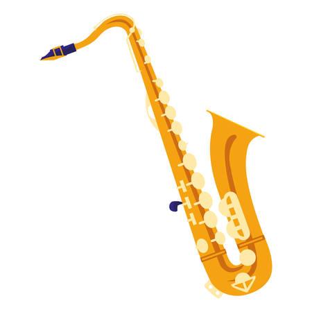 saxophone instrument musical icon vector illustration design