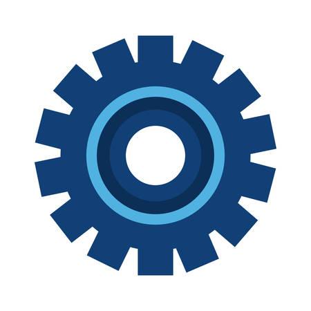 gear wheel icon on white background vector illustration