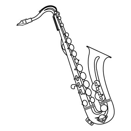 saxophone instrument musical icon vector illustration design