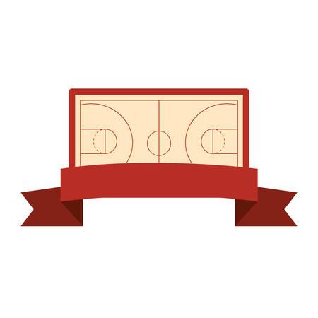 basketball sport court floor background vector illustration