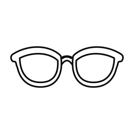 eyeglasses accessory icon on white background vector illustration Foto de archivo - 119218976