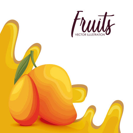 fresh mango fruit healthy vector illustration design