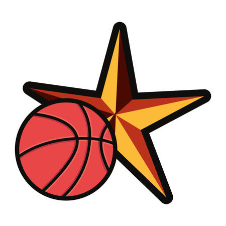 basketball sport ball star background vector illustration