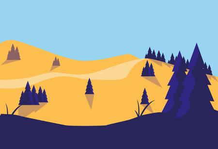 forest landscape scene icon vector illustration design