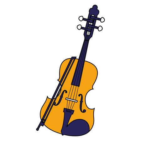 fiddle instrument musical icon vector illustration design Ilustração Vetorial