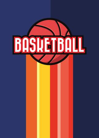 basketball sport ball poster design vector illustration  イラスト・ベクター素材