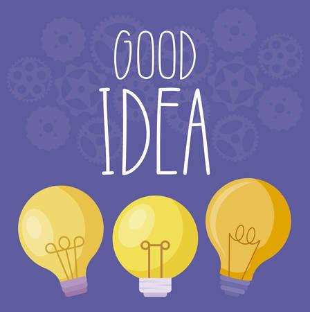 set of light bulbs good idea vector illustration design Stockfoto - 119328053