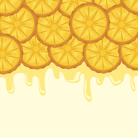 pattern of fresh pineapples sliced fruit vector illustration design Standard-Bild - 119328402