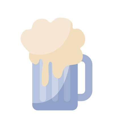 jar beer isolated icon vector illustration design