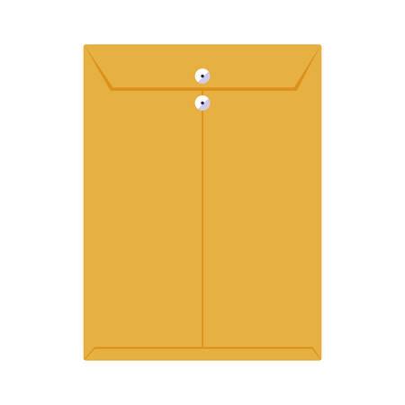 Manilla envelop geïsoleerd pictogram vectorillustratieontwerp