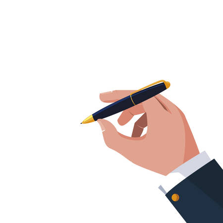 hand writing with pen ink supply vector illustration design Çizim