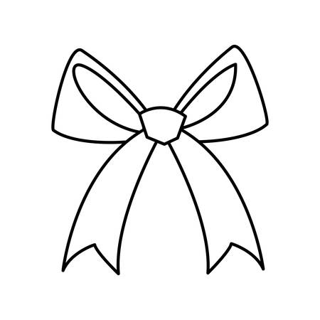 elegant bow ribbon icon vector illustration design