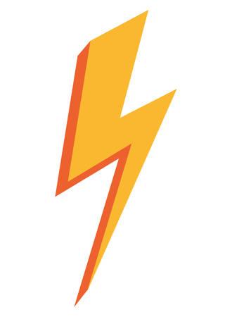 thunderbolt energy power icon on white background vector illustration