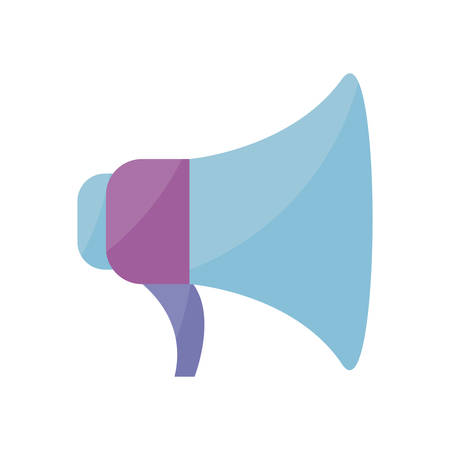 megaphone sound isolated icon vector illustration design Stock Vector - 124251253