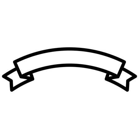 ribbon tape frame icon vector illustration design Stock Vector - 119465703