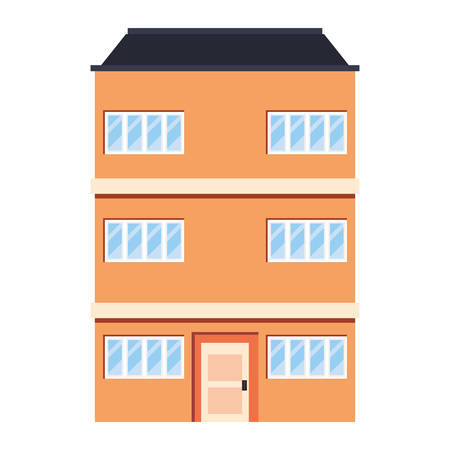 building urban structure on white background vector illustration 矢量图像