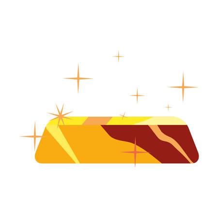 gold bar treasure on white background vector illustration Vettoriali