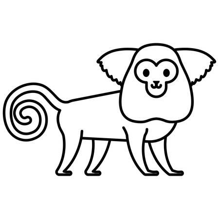 cute exotic monkey character vector illustration design 向量圖像