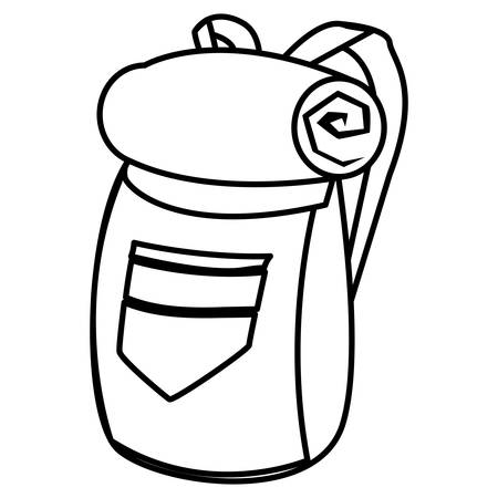 adventurous travel bag icon vector illustration design
