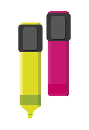 highlighters colors isolated icons vector illustration design Çizim