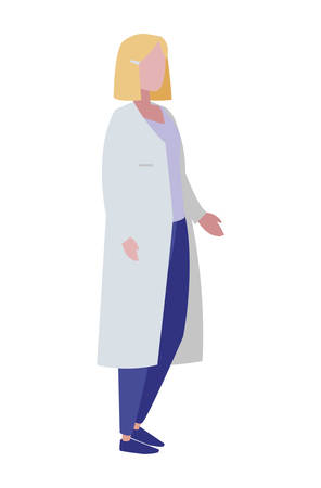 female doctor professional character vector illustration design 일러스트