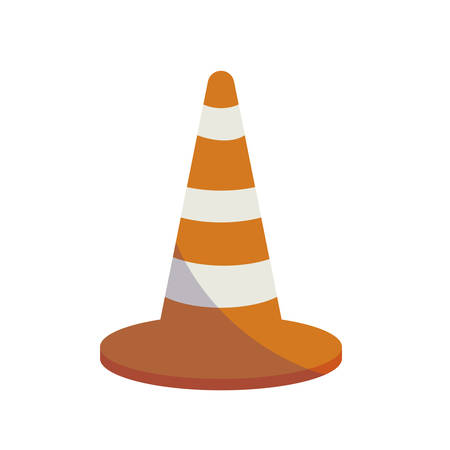 construction cone isolated icon vector illustration design Stok Fotoğraf - 119697042