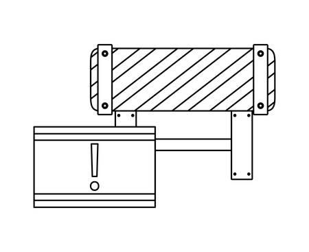 barricade and signaling with alert vector illustration design Ilustração