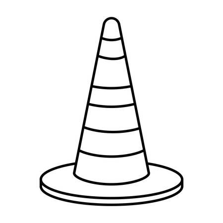 construction cone isolated icon vector illustration design Çizim