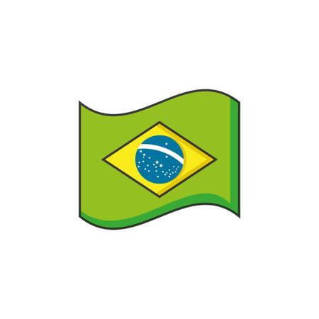 flag of brazil isolated icon vector illustration design