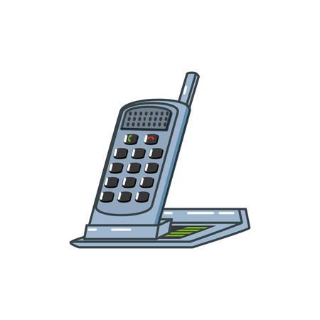 digital telephone office wireless vector illustration design