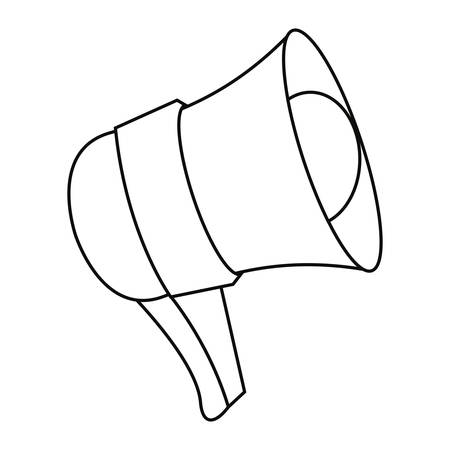 megaphone object icon on white background vector illustration