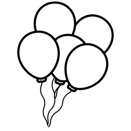 balloons helium floating icon vector illustration design Vektorové ilustrace
