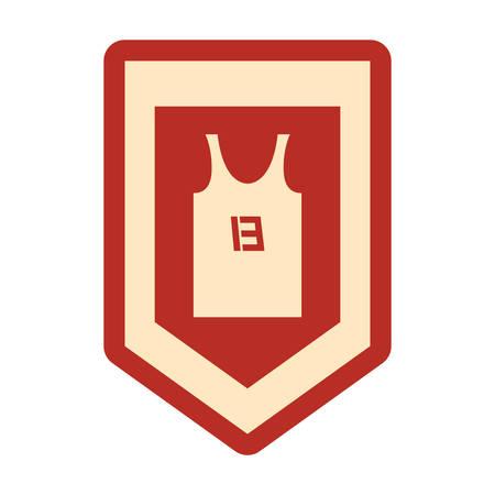 basketball sport jersey emblem background vector illustration