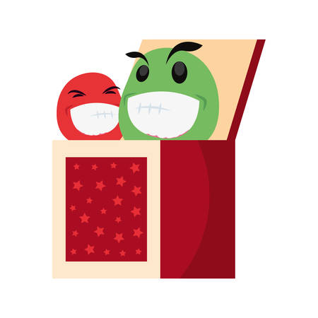 emoji in the box april fools day vector illustration