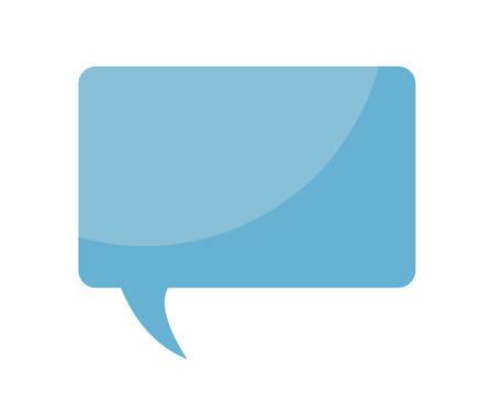 speech bubble in rectangle shape vector illustration design