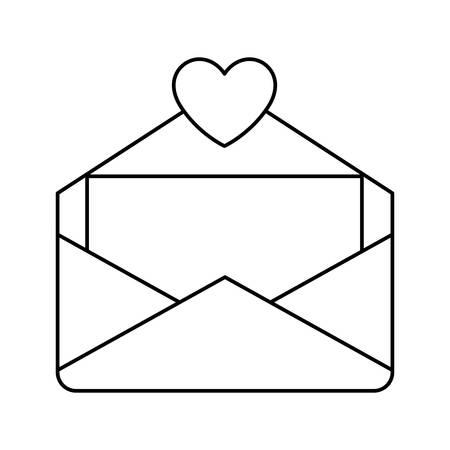 envelope letter love icon vector illustration design