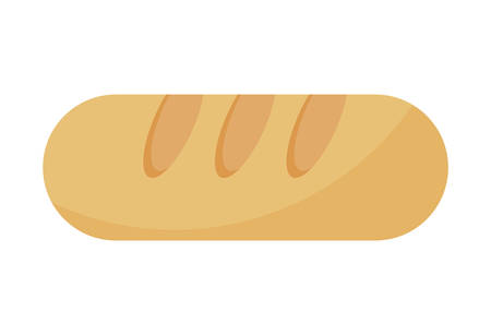 delicious french bread isolated icon vector illustration design