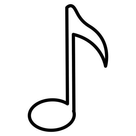 music note isolated icon vector illustration design Vettoriali