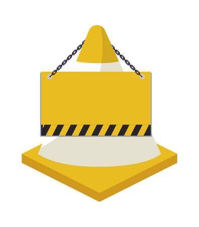 cone with signaling hanging isolated icon vector illustration design Ilustração