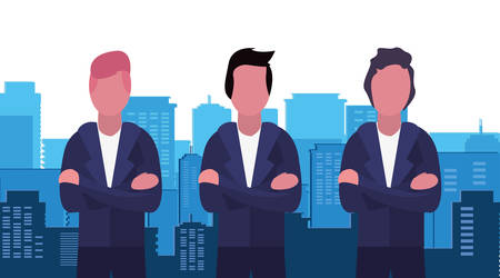 businessmen city building urban background vector illustration 矢量图像