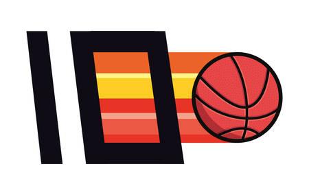 basketball sport ball number background vector illustration