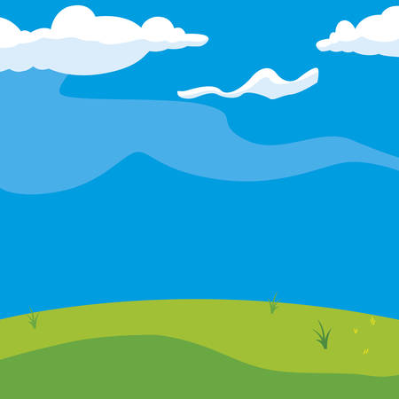 beautiful landscape scene icon vector illustration design