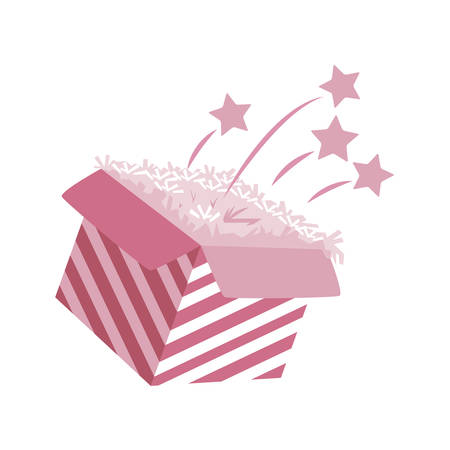 sweet cake birthday packing box vector illustration design