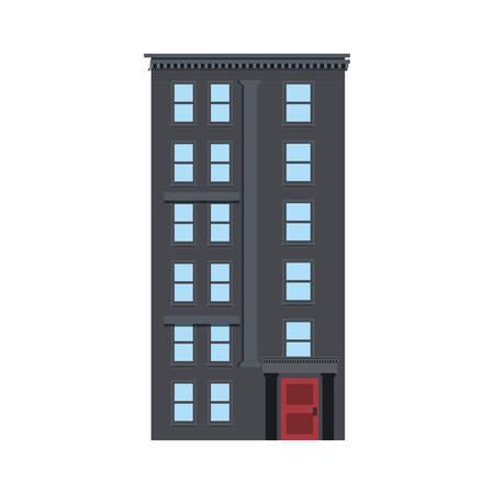building urban structure on white background vector illustration Illustration
