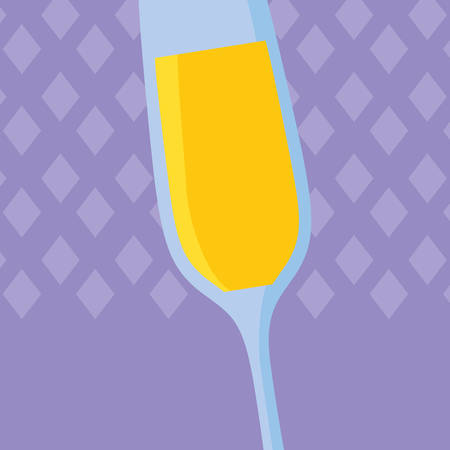 champagne cup isolated icon vector illustration design