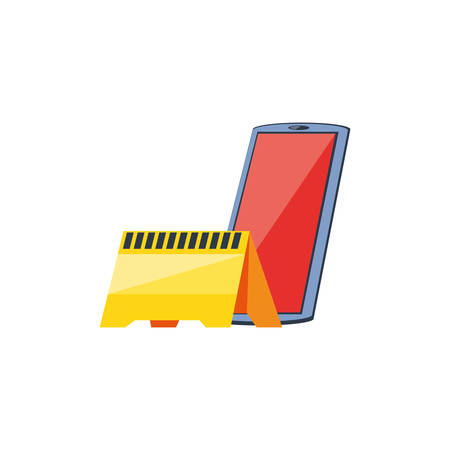 smartphone device with signaling vector illustration design