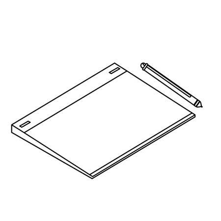 graphic design board and pencil electronics vector illustration design