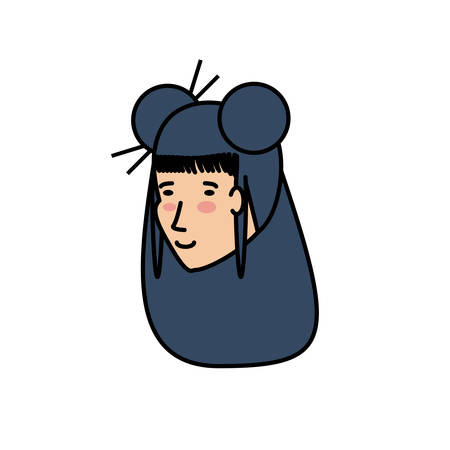 head of geisha woman avatar character vector illustration design Banque d'images - 124061983