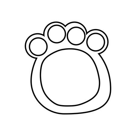 pawprint of animal isolated icon vector illustration design
